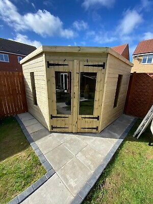 £2580 • Buy Garden Shed Corner Summer House Tanalised Ultimate Heavy Duty 10x10 22mm T&g 3x2