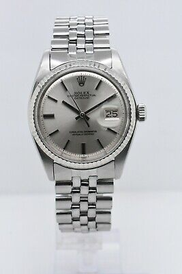 $ CDN5664.82 • Buy Rolex Datejust 1601 Stainless Steel Case Silver Stick Dial 36 Mm