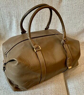 £420 • Buy Vintage *MULBERRY* Darwin Leather Clipper Duffle Weekend Travel Holdall Bag