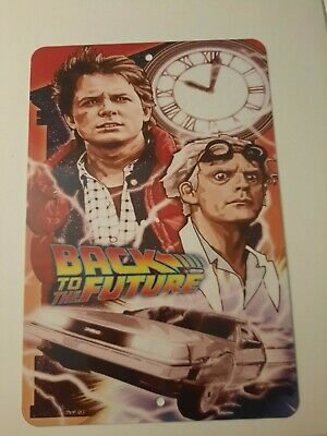 $18 • Buy Back To The Future Movie Artwork 8x12 Metal Wall Sign