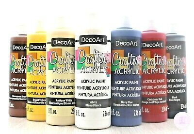 £8 • Buy DecoArt Crafters Acrylic Paint 8oz / 236ml - Large Size Of Popular Colours