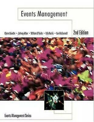 £1.90 • Buy Events Management By William O'Toole, Johnny Allen, Glenn A. J. Bowdin, Ian...