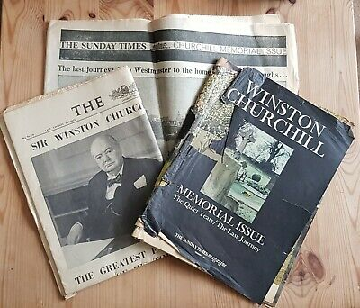 £2.99 • Buy 3 Vintage The Times Newspapers Winston CHURCHILL, 1965