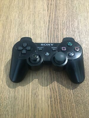 £13.49 • Buy Official Sony Playstation PS3 Controller Wireless Black Dualshock SixAxis Tested