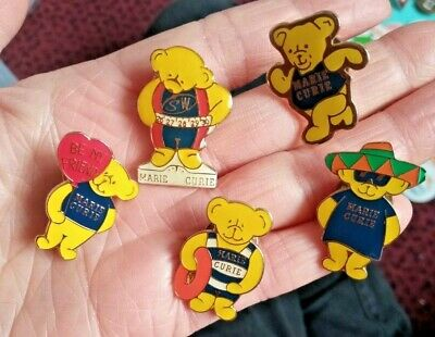 £2.50 • Buy 5 X MARIE CURIE CANCER CHARITY Pin Badges Collectable Lot Bundle SUMMER THEME