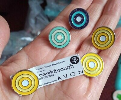 £2.50 • Buy 5x FASHION TARGETS BREAST CANCER AVON ENAMELS Pin Badges Collectable Lot Charity