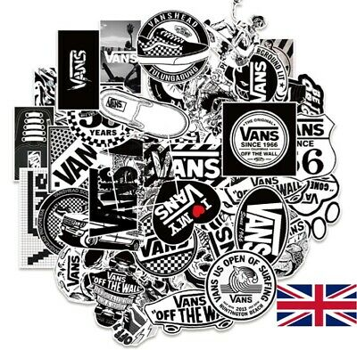£4.50 • Buy 50 Black And White VANS Stickers Skateboard Luggage Car Guitar Wall Decal UK NEW