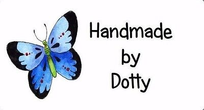 £2.99 • Buy 260 Personalised Mini Address Labels Handmade Etc - Blue Butterfly