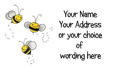 £2.50 • Buy 42 X Personalised Address Labels Stickers - Busy Bee Trio  - Address, Crafts