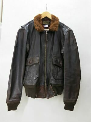 $416.79 • Buy M-422A/Leather Jacket Blouson/M/Leather/Brw/A-2