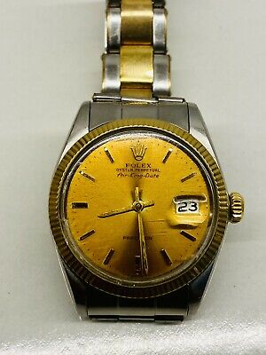 $ CDN4000 • Buy 1967's Rolex Air King Date Ref. 5701 Cal.1520 S/S Gold Automatic Men's Watch