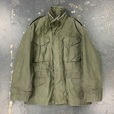$100 • Buy Dyed Black M65 Field Jacket 60s Vtg Vietnam Special Forces Small Subdued Sterile