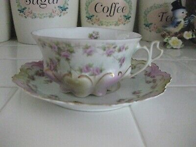 $32.50 • Buy Beautiful Vintage M.Z. Austria Tea Cup And Saucer With Pink Roses And Gold Trim