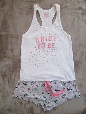 £5 • Buy LOVE TO LOUNGE  BRIDE TO BE  Vest And Shorts Pjs Pyjamas