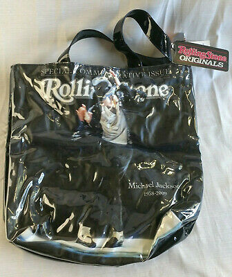 £12.87 • Buy Michael Jackson Rolling Stone Commemorative Tote Bag Vinyl With Tags