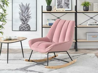 £295 • Buy New Baby Pink Modern Rocking Chair Velvet Nursery Comfy Comfortable Unique