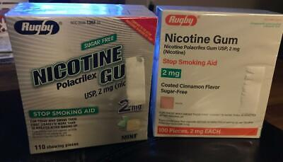 $ CDN49.53 • Buy Rugby Nicotine Polacrilex Gum - Mint And Cinnamon, 2mg, Total Of 210 Pieces