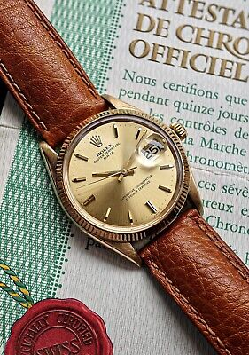 £4995 • Buy Rolex Oyster Perpetual Date 14k Solid Gold Ref. 1503 Vintage Watch With Papers