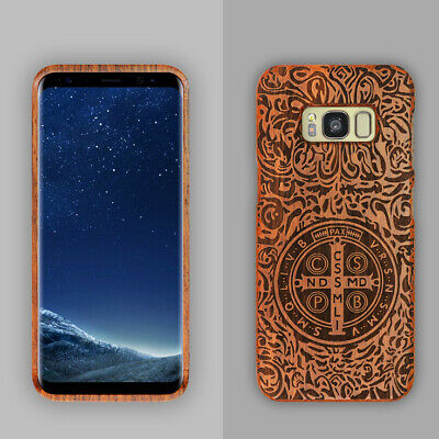 $ CDN11.13 • Buy Original Wood Bamboo Hard Case Back Cover For Samsung Galaxy Note 5 S9/S8 Plus