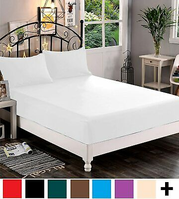 AU16.99 • Buy 1000TC Ultra Soft Extra Deep Fitted Sheet Set Double/Queen/King Bed Breathable