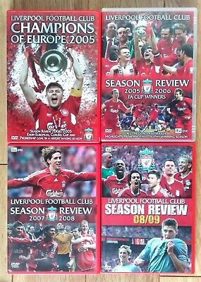 £25.99 • Buy 4 X Liverpool FC Season Review DVDs 2004/05 2005/06 2006/07 2007/08