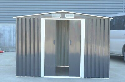 £499.99 • Buy Metal Garden Shed Outdoor Storage House10x8  Tool Sheds With Free Base