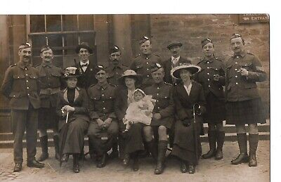 £9.50 • Buy WW1,Argyll And Sutherland Highlanders + Families Group, Photograph Postcard