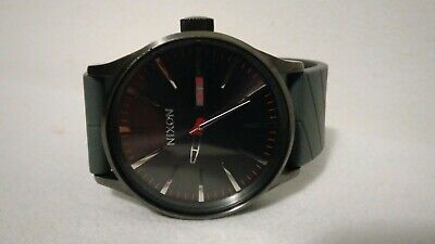 £28.63 • Buy Nixon Men's Never Be Late  The Sentry   Quartz Watch .rubber Strap Signed.nice!