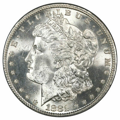 $74.99 • Buy 1881 S Morgan Silver Dollar BU Uncirculated MS White - From Roll