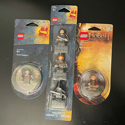 £71.21 • Buy NEW Lego Lord Of The Rings Minifigure Magnets Samwise Wraith Frodo Bilbo Hobbit