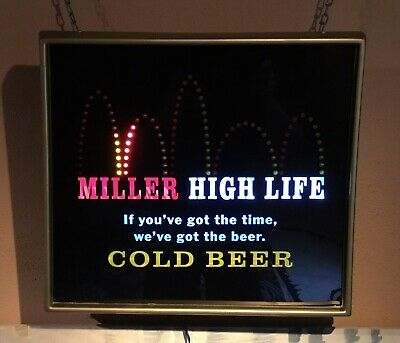 $234 • Buy 2006 Miller High Life Beer Bouncing Ball Motion Lighted Sign. VG++