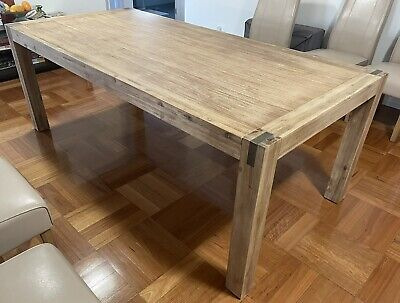 AU300 • Buy 8 Seater (or Spacious 6 Seater) Hardwood Timber Dining Table
