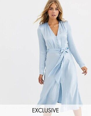 £95 • Buy Ghost Meryl Dress Pale Blue Size Small - Sold Out!