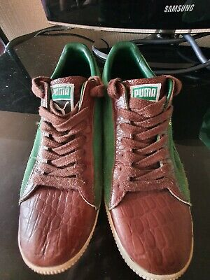 £18.99 • Buy Puma Clyde Trainers Size UK 8 Green W/ Brown Leather