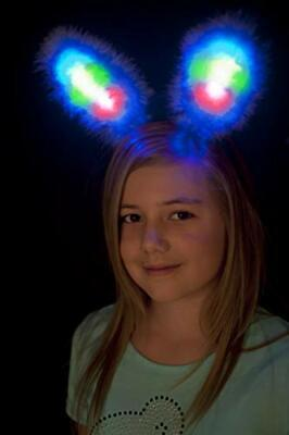 £8.67 • Buy White  Blue Light Up Bunny Ears Hen Party Costume