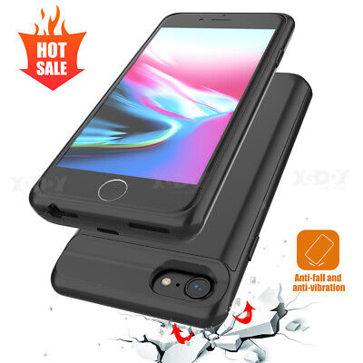 AU30.99 • Buy Ultra-Thin Power Bank Battery Backup Case Holder Cover For IPhone X 7 6 8 Plus