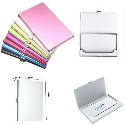 £4.99 • Buy Personalised Business Card Holder - Light Card Case For ID Cards, Credit Cards