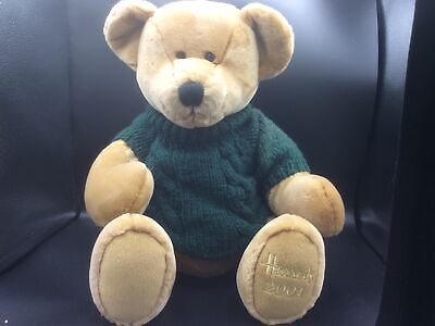 £9.99 • Buy Harrods Collectable Christmas 2001 Edition Large Teddy Bear Green Jumper