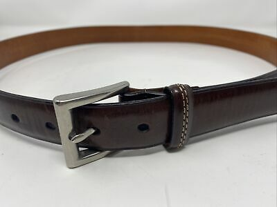 $31.50 • Buy Mens COACH Brown Leather Belt 38 Style 3885 Made In ITALY