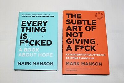 AU50 • Buy The Subtle Art Of Not Giving A F*ck HC & Everything Is F*cked By Mark Manson HC