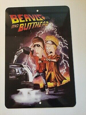 $18 • Buy Back To The Beavis And Butthead Future Funny 8x12 Metal Wall Sign