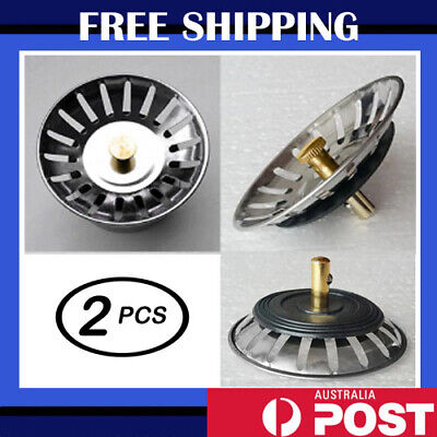 AU6.25 • Buy High Quality Stainless Steel Kitchen Waste Sink Drain Strainer Plug Stopper
