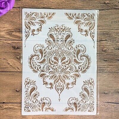 £3.99 • Buy Shabby Chic Vintage Craft Stencil A4  Floral  Pattern Plastic Sheet