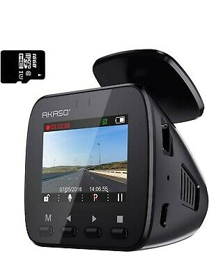 AU120.78 • Buy AKASO Wifi Dash Cam With GPS, 1296P Full HD Dash Camera For Cars With 16GB