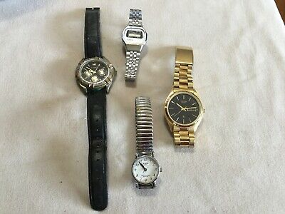 $23.50 • Buy Lot Of Vtg Men's & Women's Watches And Watch Bands Fossil Citizens Parts Repair