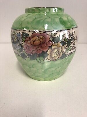 £19 • Buy Vintage MALING Lustre Ware Vase 4541 May Bloom / Victoria Green  1940s - Lovely