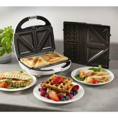 £26.80 • Buy Tower 800W 3 In 1 Sandwich Waffle Maker Panini Press Toaster Non-Stick Plate