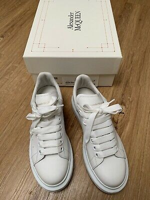 AU400 • Buy Alexander Mcqueen Sneakers - Size 36 White On White Exaggerated Platform
