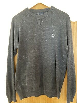 £12 • Buy Fred Perry Jumper Small Dark Grey Sweater