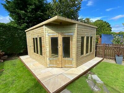 £4215 • Buy Garden Shed Corner Summer House Tanalised Ultimate Heavy Duty 16x10 22mm T&g 3x2